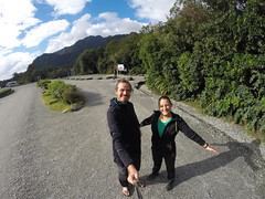 Photo de 14h - Sur le parking du glacier Franz Josef (Nouvelle-Zélande) - 10.05.2014