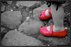 Little red shoes (Deb Jones1) Tags: red canon children australia selectivecolouring flickrduel debjones1