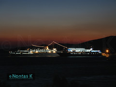 IVORY-AQUA JEWEL_ (Nontas K) Tags: sea summer sky sun tourism ferry island ship ivory hellas july 2006 greece cruiseship transports publictransport cyclades tinos           penelopea     agoudimoslines nontask