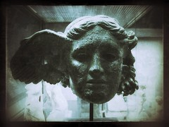 Hypnos (old-timey) (jere7my) Tags: greatbritain vacation england sculpture london statue museum bronze god unitedkingdom sleep wing filters britishmuseum 2014 hypnos bronzeheadofhypnos