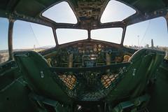 B-17 Cockpit (tourtrophy) Tags: b17 livermore b17bomber wingsofwar b17flyingfortress b17cockpit samyang8mmf35fisheye sonya6000