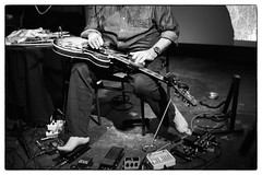 Fred Frith @ Cafe Oto, London, 30th May 2015 (fabiolug) Tags: leica blackandwhite bw music london feet monochrome 35mm blackwhite concert guitar live voigtlander gig livemusic performance rangefinder solo barefoot improv monochrom improvised guitarist biancoenero dalston improvisedmusic leicam fredfrith soloset voigtlandernokton35mmf14 voigtlandernoktonclassic35mmf14 cafeoto voigtlander35mmf14 mmonochrom leicammonochrom leicamonochrom cncprt cncprn