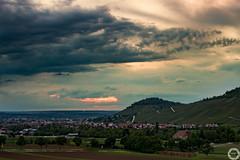 Sunset (MSPhotography-Art) Tags: nature clouds trekking germany landscape deutschland outdoor natur wolken landschaft gewitter wandern severeweather wanderung metzingen badenwrttemberg weinberge