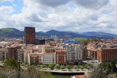 Bilbao city skyline from Etxebarria Park (mattk1979) Tags: park city bridge urban panorama building river spain cityscape view bilbao etxebarria