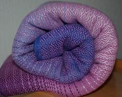 Cotton/silk custom (La Maison des Fibres) Tags: baby silk wrap coton cotton soie weaving bb handwoven charpe tissmain