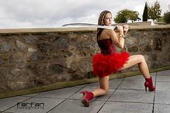 Davinia (jlhuys farfan) Tags: red woman girl mujer rojo model chica modelo rubia corset davinia farfan