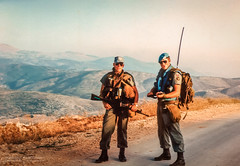 1992 UNIFIL - Patrolling the perimeter (Normann Photography) Tags: lebanon unitednations 1992 peacecorps peacekeepers highway68 unifil compactfilmcamera unitednationsinterimforceinlebanon pv68 fntjeneste unservice kontigent29 higway68