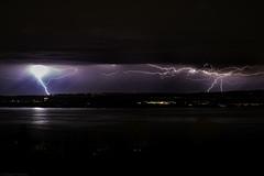 Storm on the other side (Daniel Vaiman) Tags: storm switzerland lightning thunder oneshot zugersee lakeofzug doublelightning