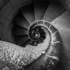Sagrada Familia Staircase (tony.wish) Tags: barcelona church architecture spain nikon europe cathedral sigma wideangle sagradafamilia d5300