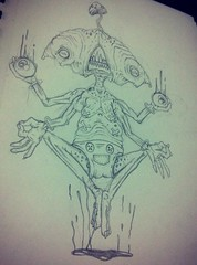 3RD Eye Unlocked (ZZFX) Tags: detail art film pencil dark painting paper weird sketch scary paint artist drawing vampire zombie character horror create concept spawn fx darkart spfx zzfx