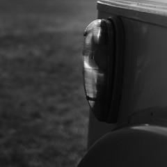 Bus - indicator (Andrew Malbon) Tags: leica summer bw bus grass 35mm vintage square blackwhite bokeh handmade rangefinder lee handpainted nd portsmouth vehicle publictransport southcoast summilux southsea indicator m9 wideopen vintagetoys vintagebus southseacommon 35mmf14 leicam9 leendgrad