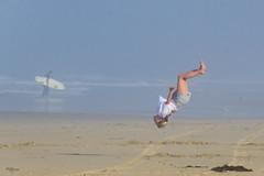 In Air (Kevin MG) Tags: huntingtonbeach losangeles ventura ca usa beach ocean sand surf water sea girl cute pretty young youth little gymnastic flip jump