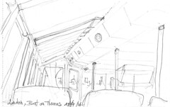London, in the boat to Greenwich, on the Thames (Croctoo) Tags: croctoo croctoofr croquis crayon london boat thames