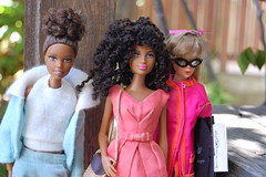 You're Hired! (Emily1957) Tags: barbie mattel fashion naturalgirlsunited karenbyrd standardbarbie madetomovebarbie moodformusic olegcassini light naturallight kitlens nikond40 nikon blackdoll blackdolls cateyeglasses pakbelledress searsesclusive actionaccents vintagebarbiefashion