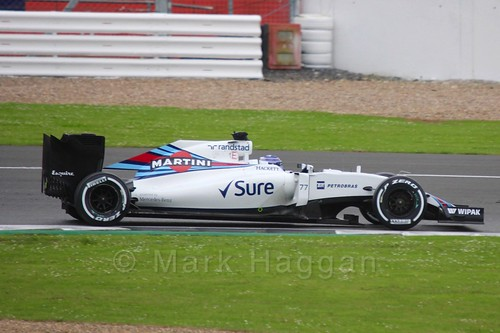 Valtteri Bottas driving for Williams in Formula One In Season Testing at Silverstone, July 2016