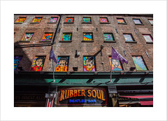 Rubber Soul II (andyrousephotography) Tags: liverpool mathewstreet rubbersoul beatlesbar thecavernclub cavern beatles music pop icons legends history wall art psychedelic murals fabfour john paul george ringo canon eos 5d mkiii