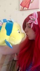 Being Ariel (Elysia in Wonderland) Tags: ariel little mermaid disney cosplay costume marvellous events princessing princess flounder fish red wig blue dress