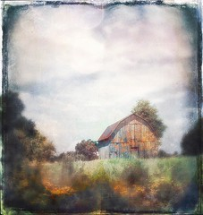 Changes... (Sherrianne100) Tags: textures seasons peaceful farm oldbarn barn ozarks missouri