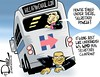 0816 powell under the bus again cartoon (DSL art and photos) Tags: editorialcartoon donlee politics presidential election 2016 colinpowell secretaryofstate email under bus clinton hillary democrat blame