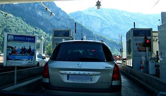 En route to Chamonix (AmyEAnderson) Tags: tollbooth toll highway france europe mountains alps rhonealpes