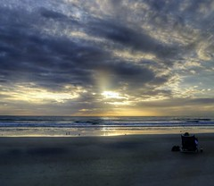 Sunrise Alone (TaranRampersad) Tags: hdr sunrise morning beach newsmyrnabeach florida