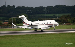 CS-CHC Bombardier BD-100 Challenger 350, NetJets Europe, Bristol Lulsgate, Somerset (Kev Slade Too) Tags: cschc bombardier bd100 challenger netjetseurope fraction3ch runway09 eggd lulsgate bristol somerset