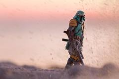 IMG_3871 (Agent   Butterman) Tags: beach bobafett starwars samurai canon 6d 70200mm toy toys bandai sunset sand