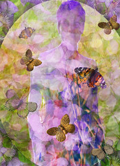 Elusive Honesty (virtually_supine) Tags: flowers photomanipulation digitalart creative textures layers honesty hss lunariaannua fractalframe pse9 sliderssunday photoshopelements9 kreativepeopletreatthis78challenge sourceimagesbyskagitrenee hollyhockpetalbackground