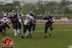 LNFA '14-15 - PLAYOFFS - Jabatos 25 Bisons 26