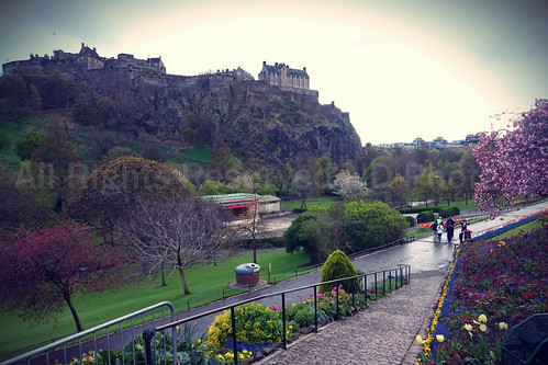 Princes Street Gardens & Edinburgh Castle