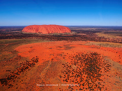 Uluru from helicopter (Paula McManus) Tags: olympus aerial helicopter outback uluru aerialphotography northernterritory ayersrock theredcentre em5 1240mm paulamcmanus 1240mmf28 ayersrockfromtheair