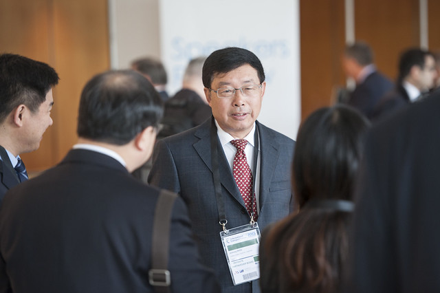 Jichang Zhou at the ITF Corporate Partnership Board meeting