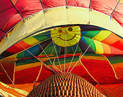 Balloon Says Have A Nice Day (theeqwlzr) Tags: geometric beautiful amazing colorful pattern bright aircraft flight surreal vehicle hotairballoon southerncalifornia smileyface riversidecounty canonrebelxti temeculaballoonfestival