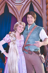 Rapunzel & Flynn (dolewhip) Tags: disneyland disney rapunzel fantasyland tangled royaltheatre fantasyfaire flynnrider