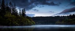 Loch Ard by Moonlight (GenerationX) Tags: blue trees mist water forest reflections landscape dawn mirror scotland still unitedkingdom scottish neil calm fullmoon gb moonlight milton trossachs barr gloaming aberfoyle lochard lochardforest