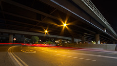 Roads of London (12 of 18) (johnlinford) Tags: city longexposure england urban london night landscape lights poplar unitedkingdom 7d gb docklands canonefs1022 canoneos7d