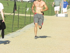 IMG_0730 (FOTOSinDC) Tags: shirtless hairy man muscles back arms arm legs candid chest leg handsome running sweaty sweat guns jogging runner jogger