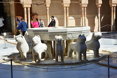 Lion fountain, Court of the Lions, Alhambra (R-Gasman) Tags: travel spain alhambra granada lionfountain courtofthelions