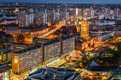 Berlin Cityscape (K.H.Reichert) Tags: urban berlin alex skyline night germany nightshot stadtmitte alexanderplatz architektur rotesrathaus bluehour berlinmitte blauestunde nachtfoto