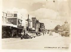Fitzmaurice St. Wagga (Daddys 'lil Girl) Tags: postcard australia nsw historical 1949 wagga albury riverina