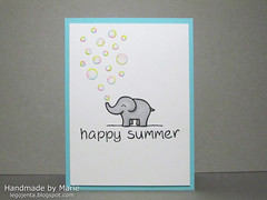 Elephant with Soap Bubbles Card feat. Lawn Fawn (Marie (Legojenta)) Tags: lawnscaping loveyoutons lawnfawn jessiesabcs