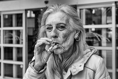 Woman, posing with cigarette (dannybrock69) Tags: woman cigarette wrinkles