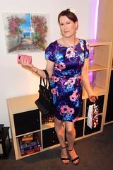 Daisy Dress (Rikky_Satin) Tags: hot cute sexy floral highheels dress silk tgirl transgender transvestite daisy satin crossdresser