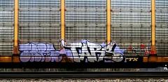 tars (timetomakethepasta) Tags: tars aak mahagony aa virus freight train graffiti autorack