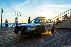 CALIFORNIA - Santa Monica (Maestr!0_0!) Tags: voyage road santa trip usa ford beach car pier police victoria voiture monica cop crown patrouille