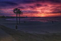 Sunrise over Barcelona Beach (sichunlam) Tags: barcelona beach sunrise spain catalonia catalunya sichunlam mintchocicecream  labarceloneta espaaspain catalunyacatalonia espana snapseed siishell