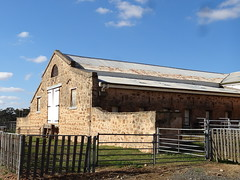 Clare Valley. Bungaree Station. The old wool shed built in 1850s. The orginal wooden shingle roof still exists under the galvanised iron in places. (denisbin) Tags: station estate hawkers clarevalley woolshed shearingshed bungaree