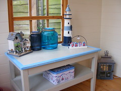 My Beach Hut Style Summerhouse! (**Cupcake Boutique**) Tags: blue lighthouse beach seaside turquoise driftwood beachhut lantern nautical summerhouse beachhutbirdhouse