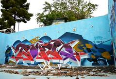 Private pool party.. (TONES_) Tags: pool graffiti athens tones