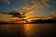 """ Sunset Dreilndersee "" (Kalbonsai) Tags: sunset sky sun water colors clouds germany zonsondergang nikon 1855mm waterscape dreilndersee watwerscape d5100 naturphotography naturshot"